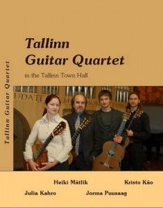 Tallinn Guitar Quartet, design by Marek Vilba